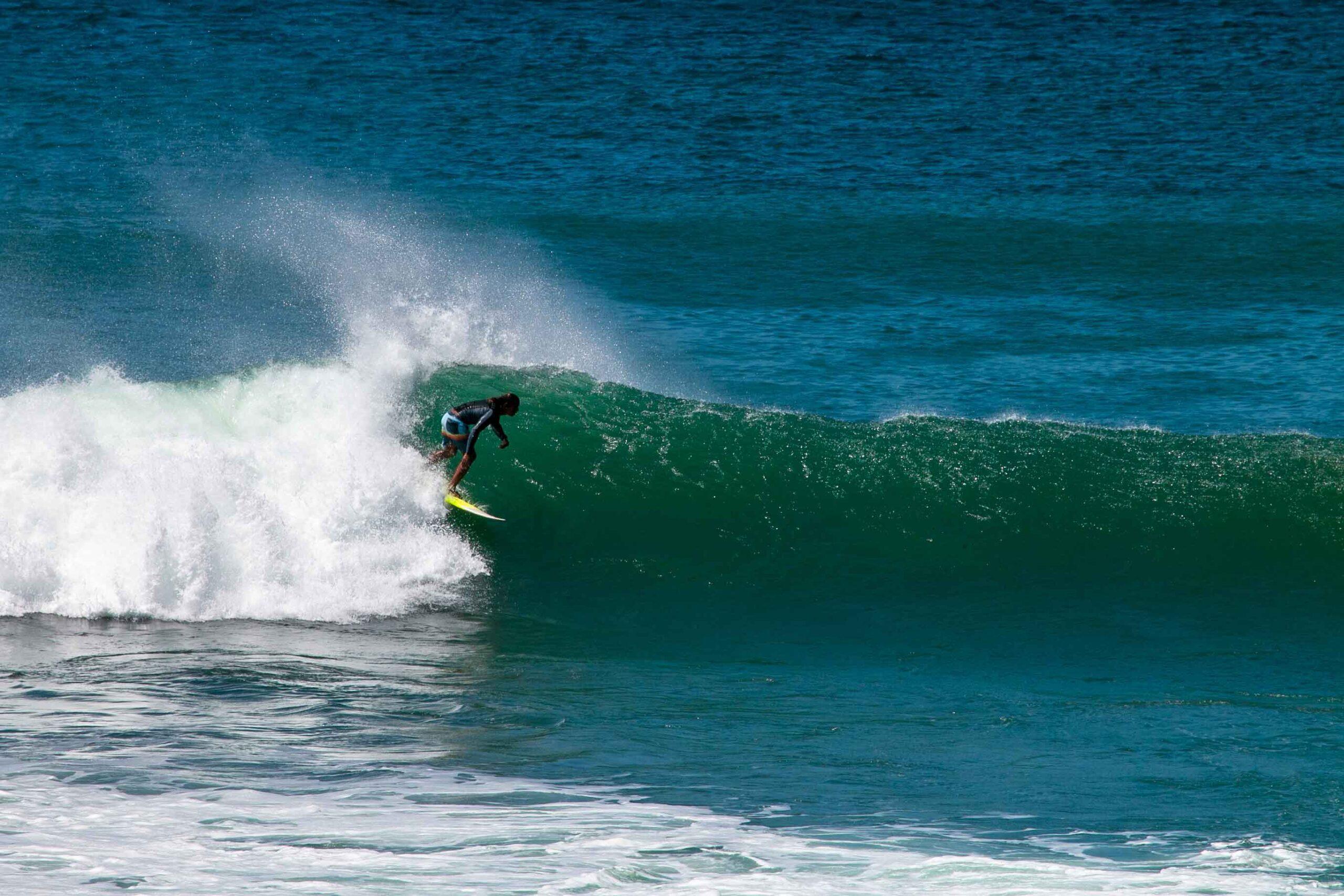 Surfing Popoyo beach Southern Nicaragua