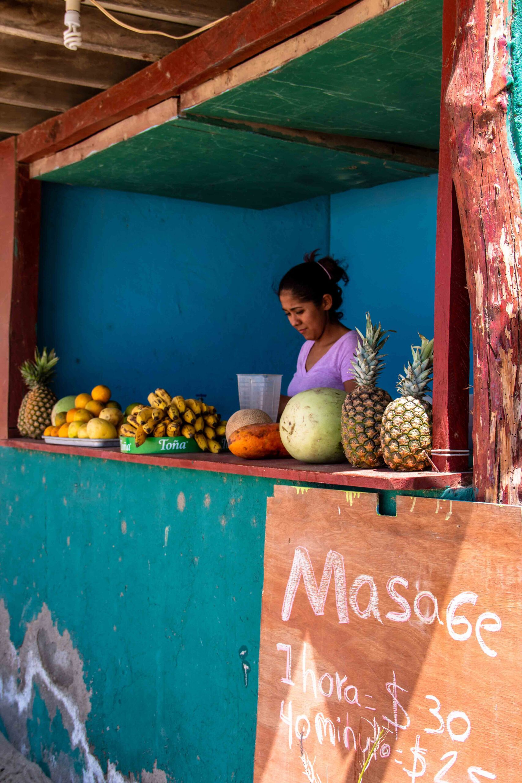Smoothie bar at Playa Maderas in Nicaragua