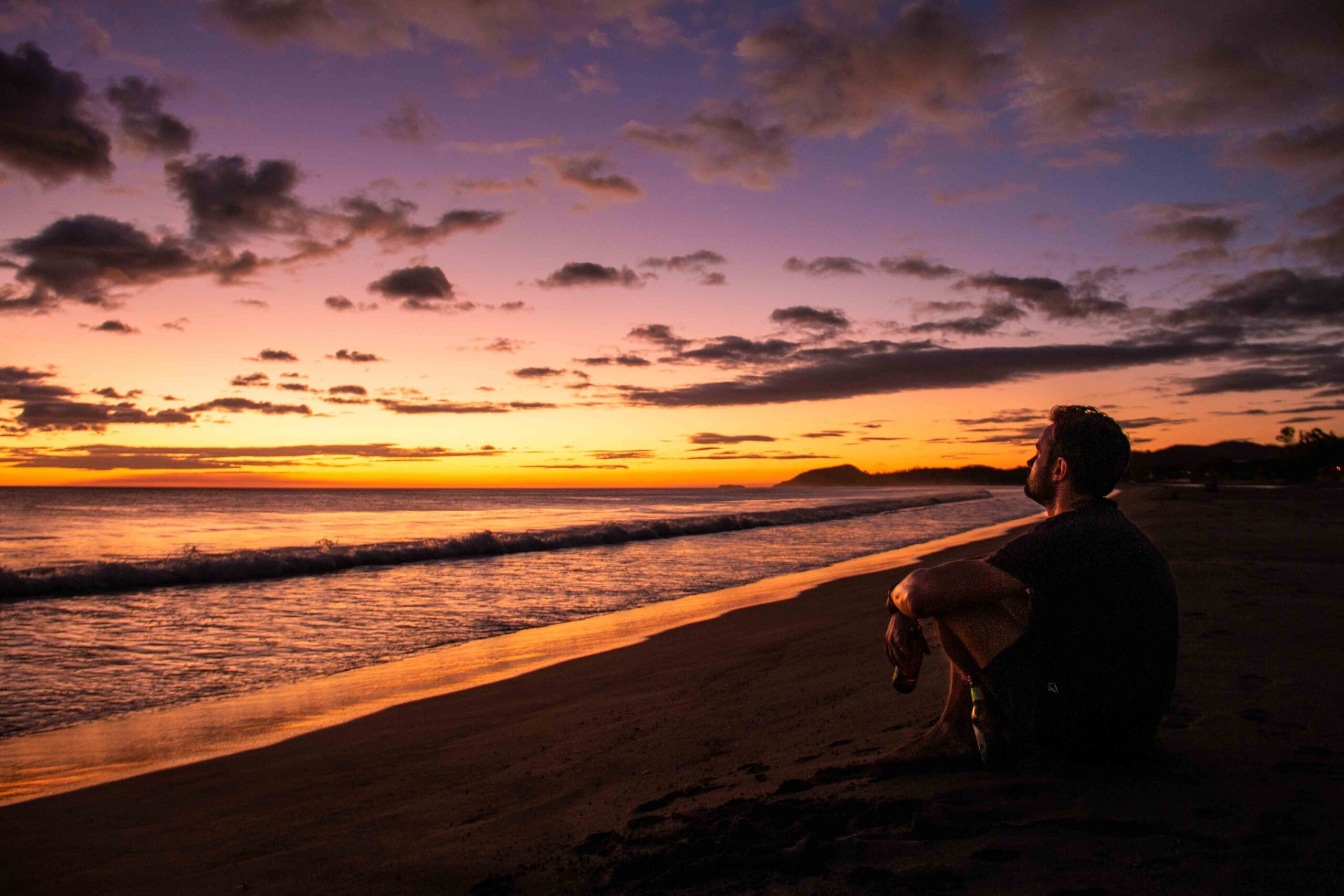 Sunset at Playa Guasacate in Nicaragua
