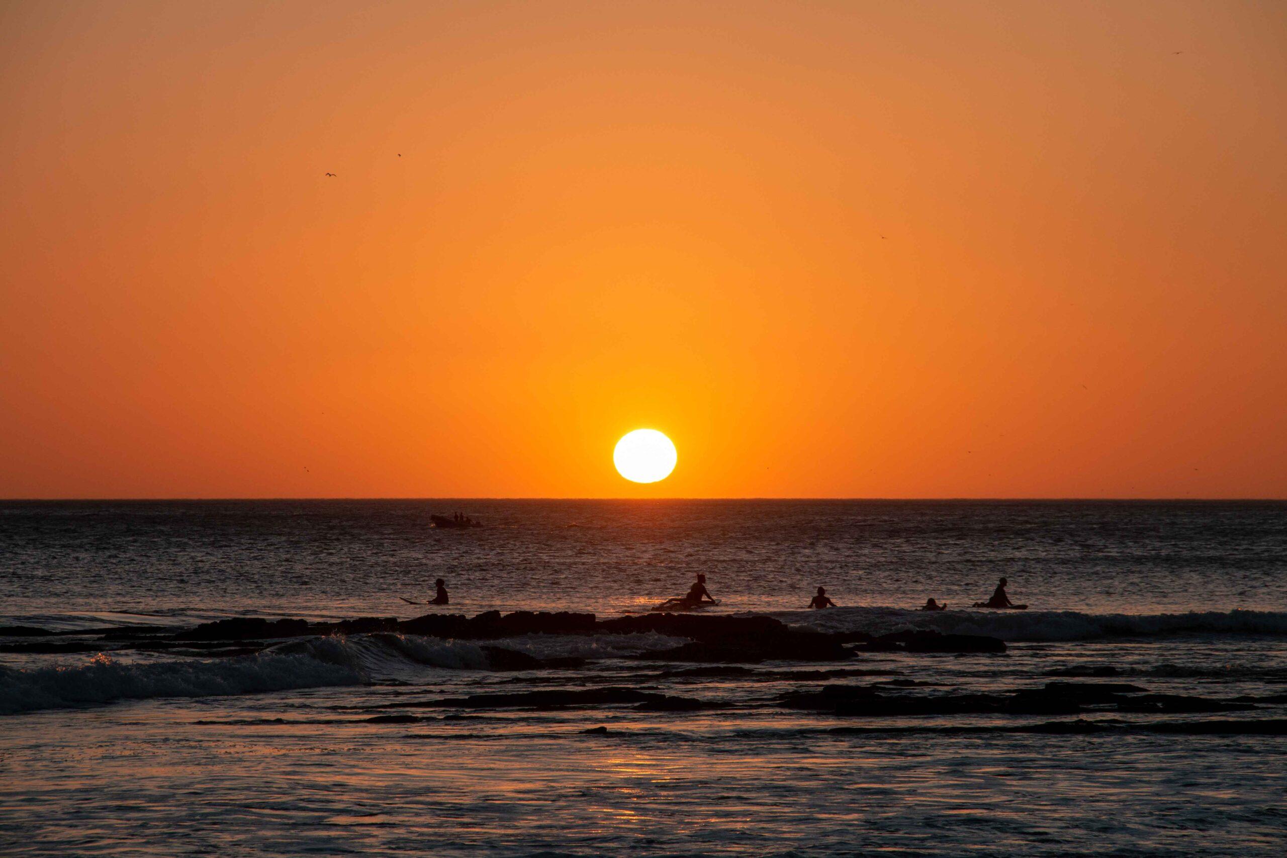 Sunset at Playa Popoyo Nicaragua