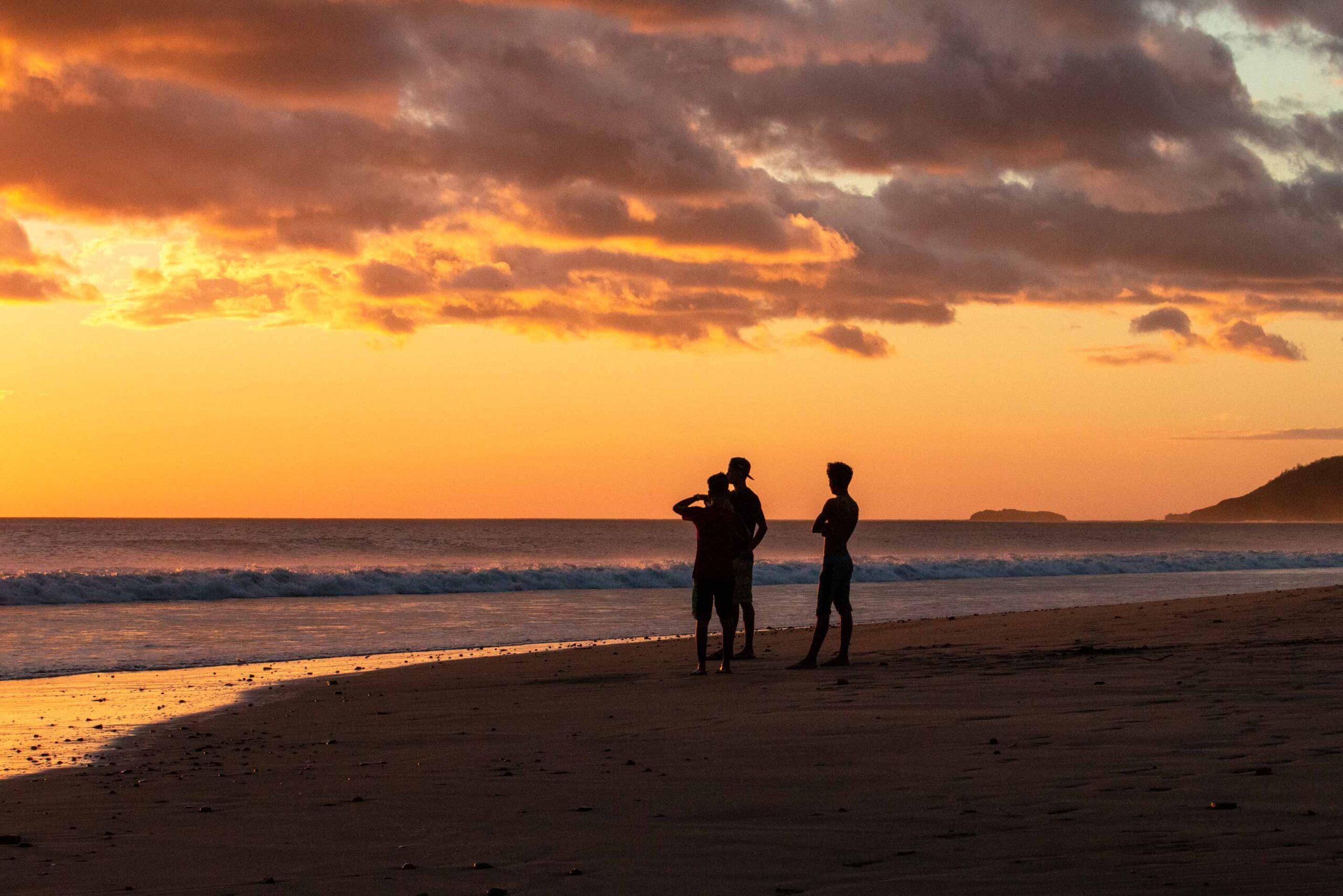 Sunset surf check at Playa Guasacate Nicaragua