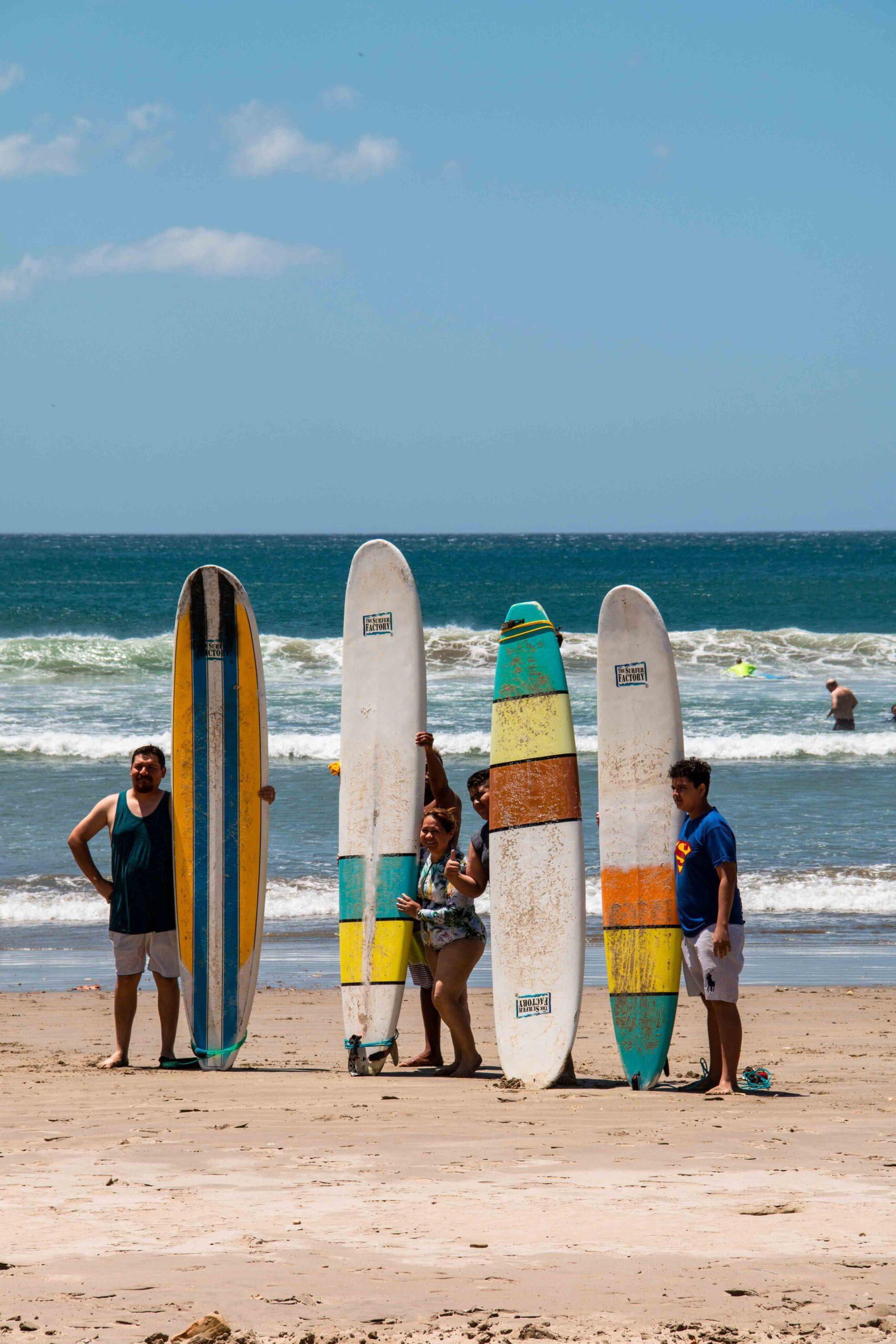 surf lesson at Playa Maderas Nicaragua