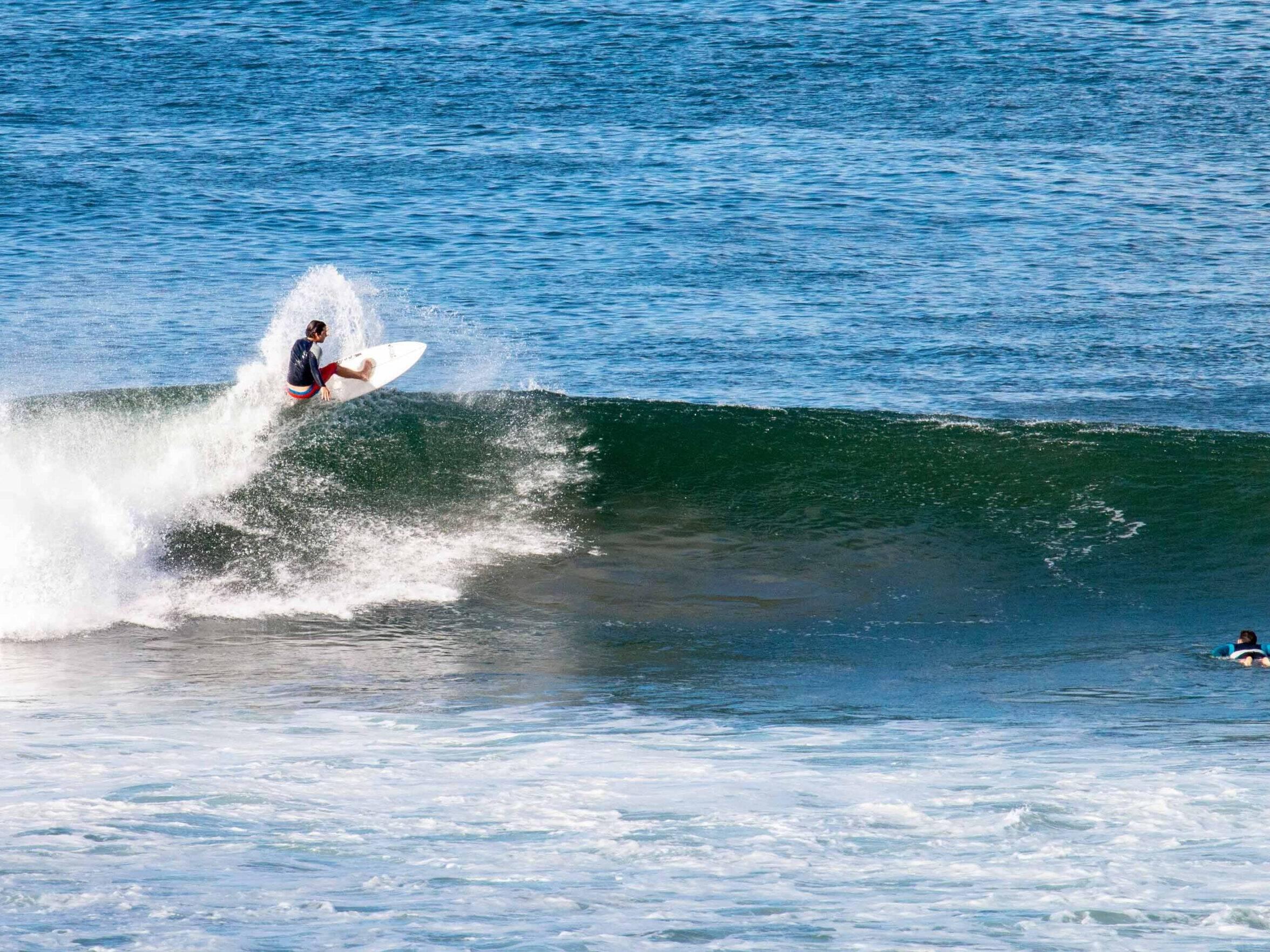 Surfer at Lance's Left Nicaragua