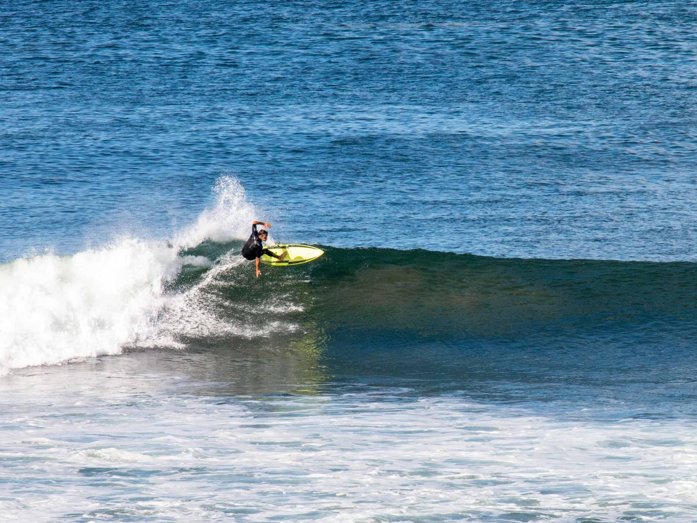 Surfer in Popoyo Nicaragua