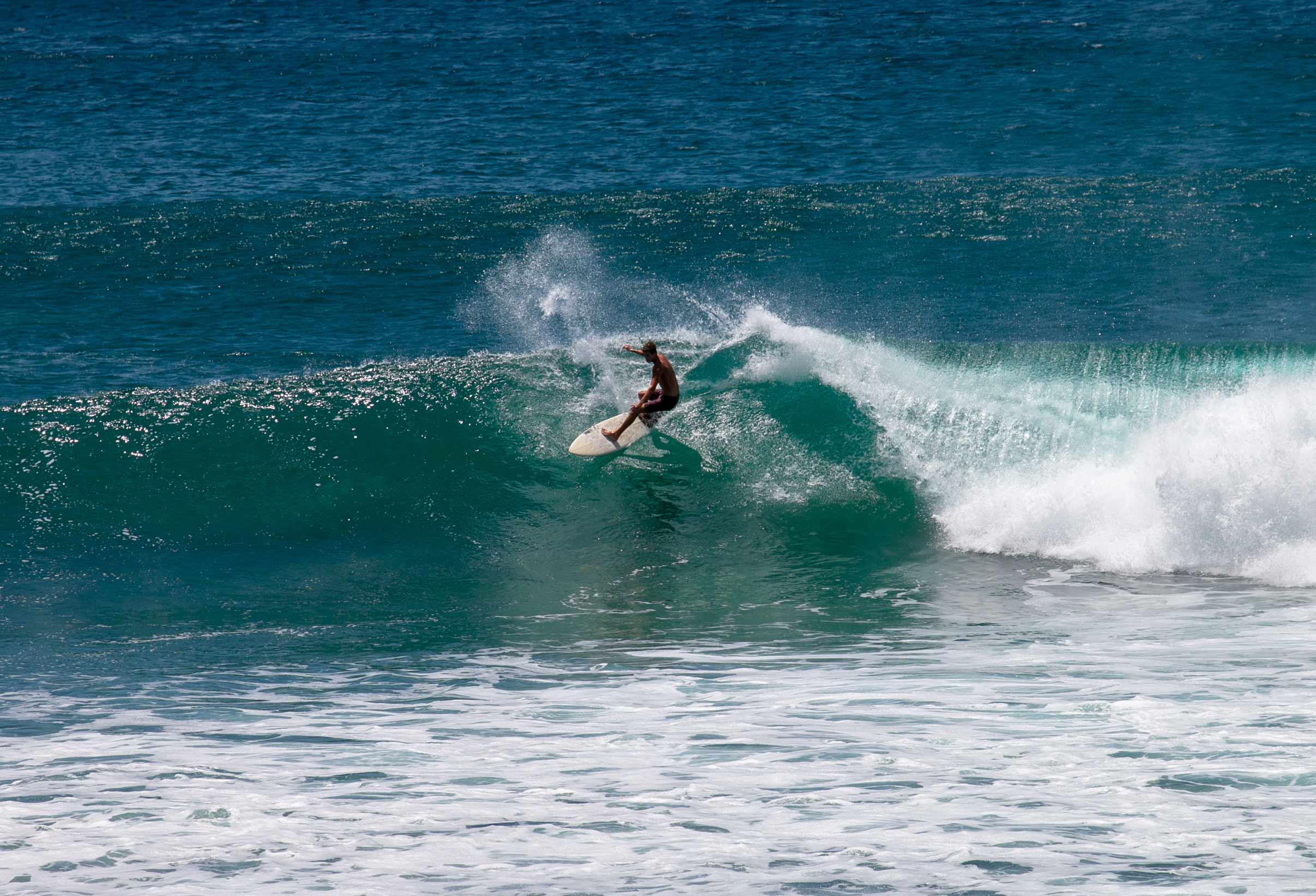 Surfing at Popoyo Nicaragua