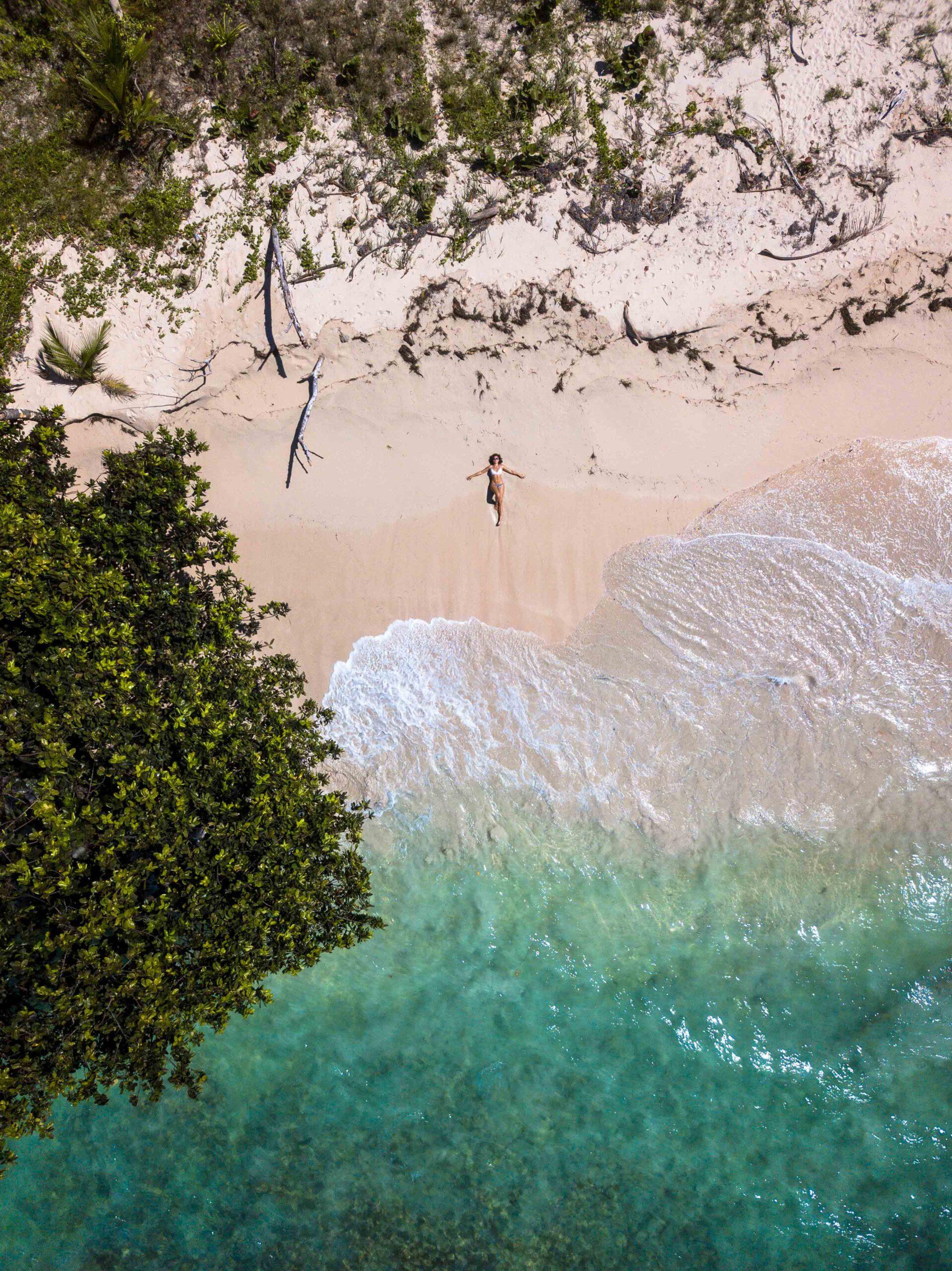 Drone photo of Cayo Zapatillo in Bocas del Toro Panama