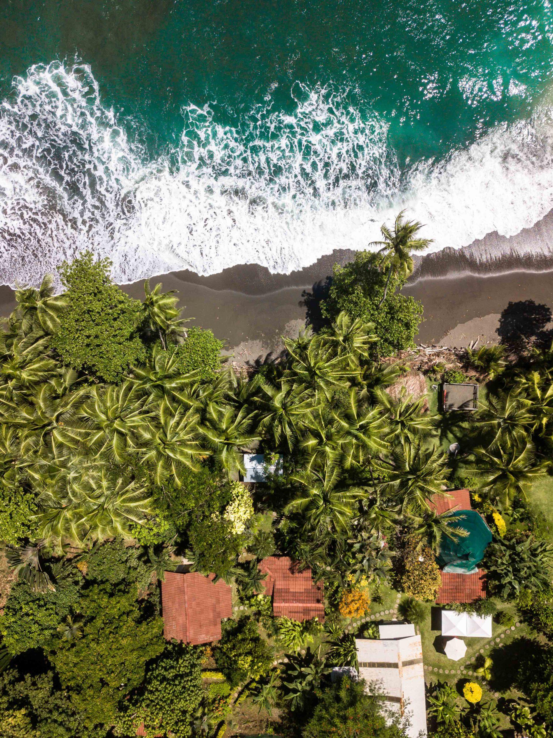 Drone photo of Rancho Burica Costa Rica