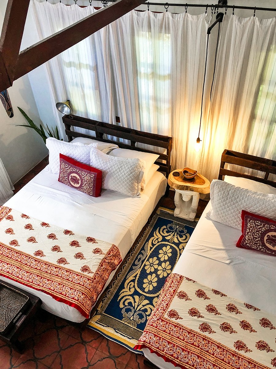 Hotel room at Encantada Ocean Cottages in Costa Rica