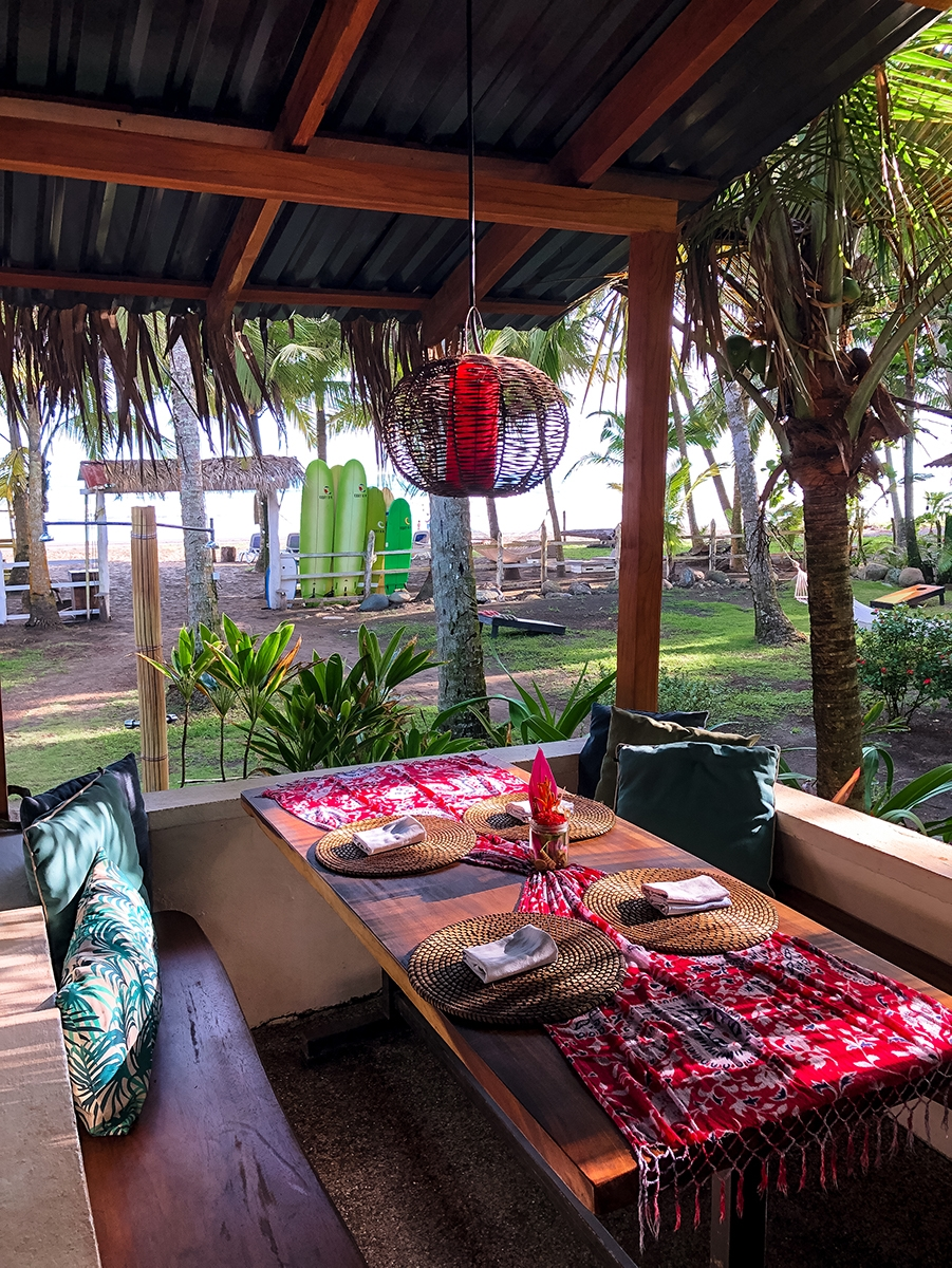 Restaurant at Encantada Ocean Cottages Costa Rica