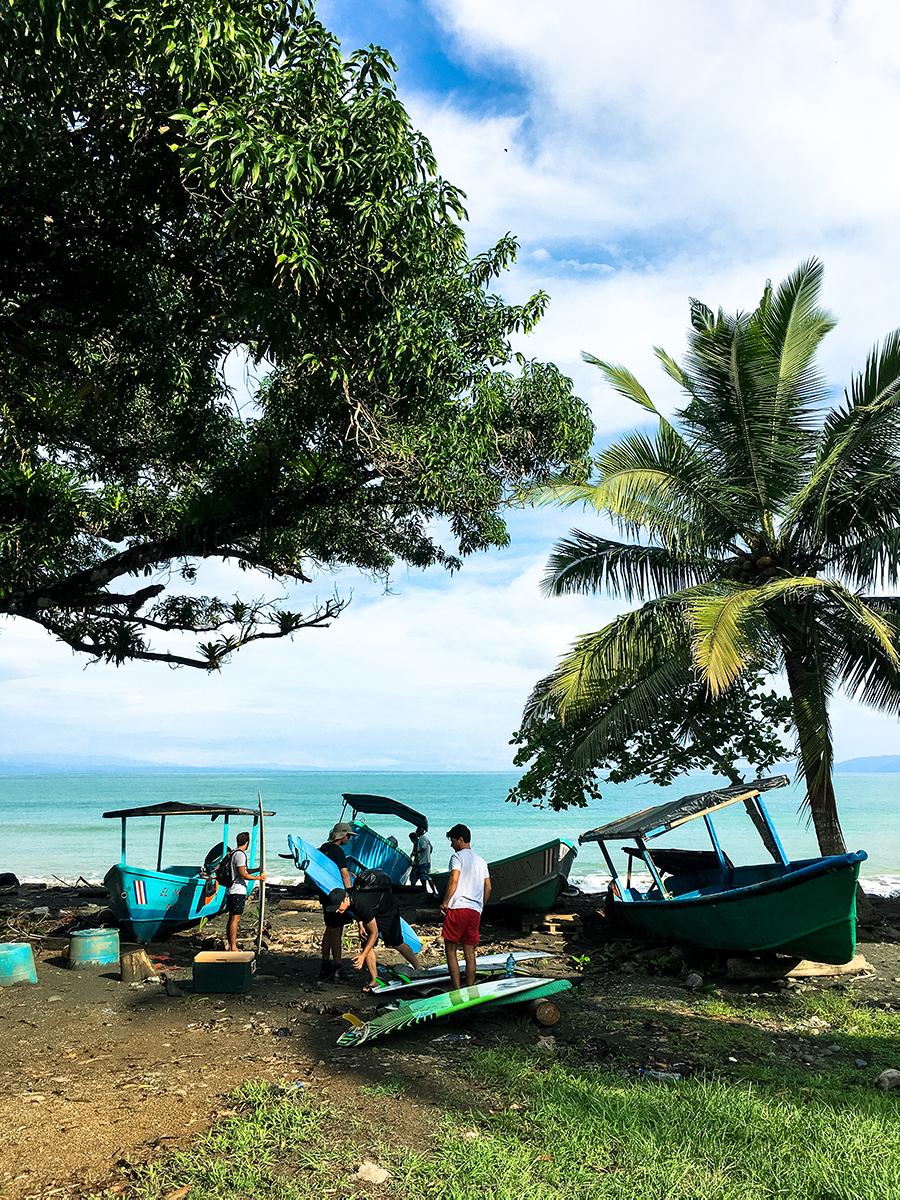 Boat trip Mokum Surf Club retreat Costa Rica