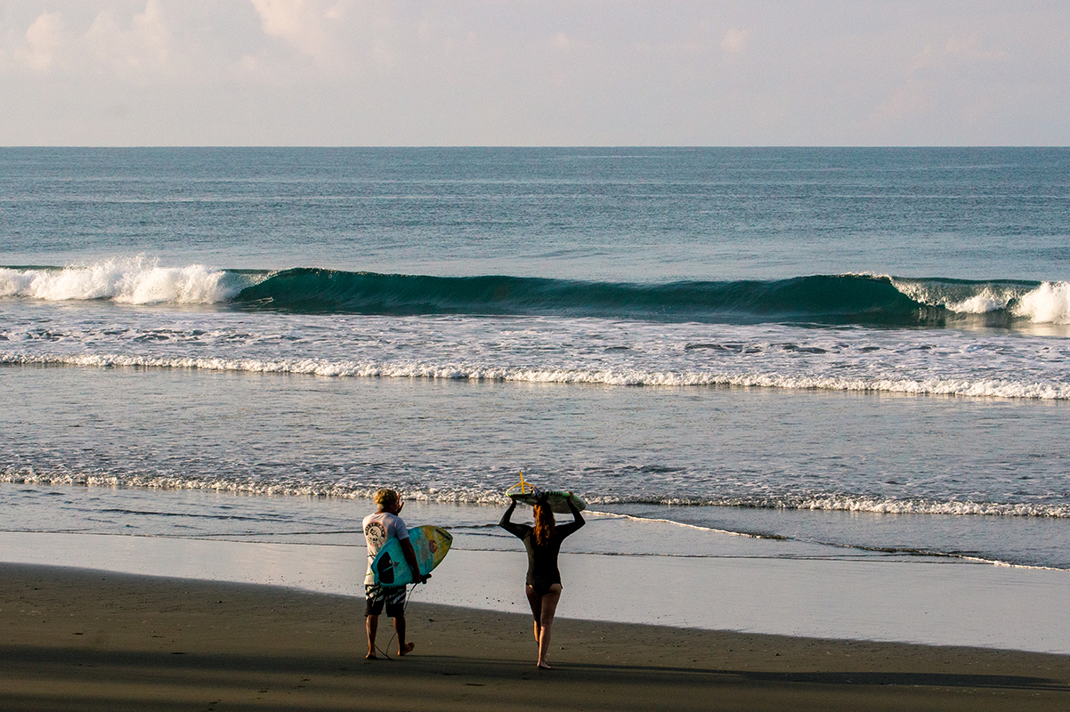 Morning surf in Costa Rica