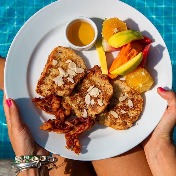 Malibu Popoyo breakfast in Nicaragua
