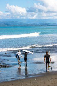 Surf coaching at Mokum Surf Club retreat Costa Rica
