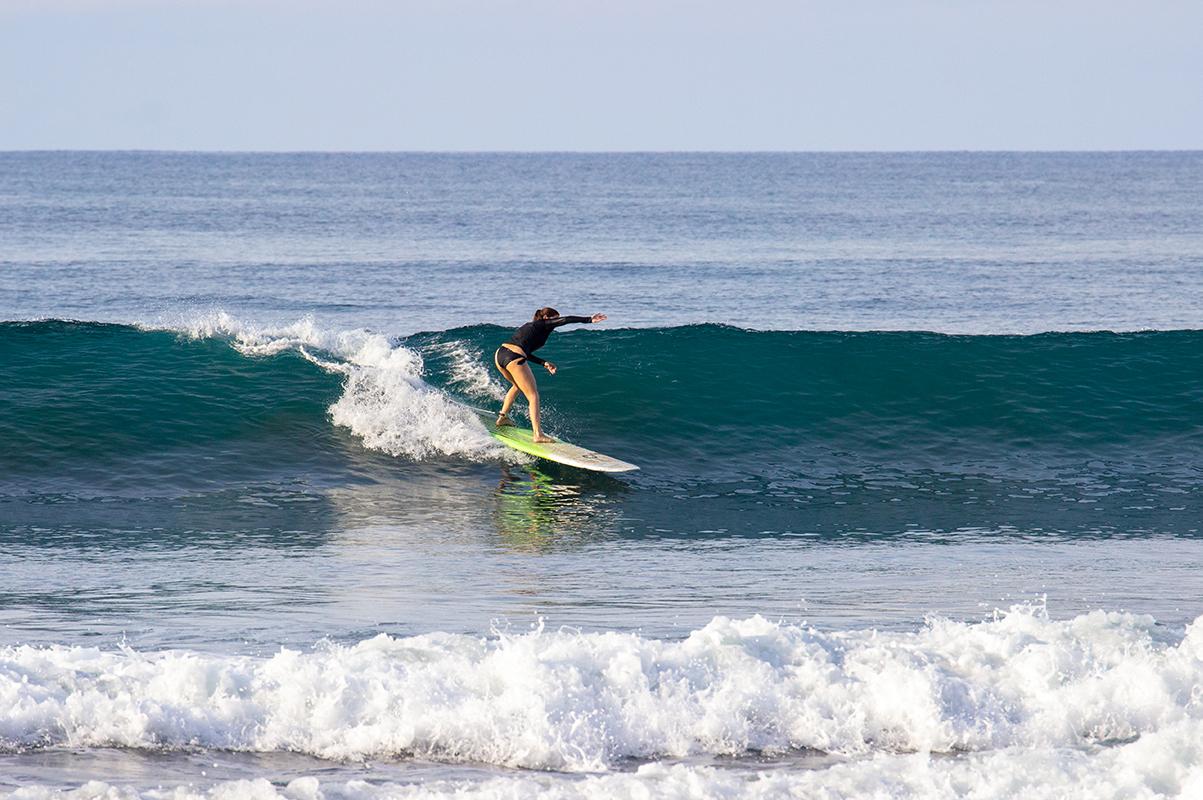 Surf lesson during Mokum Surf Club retreat Costa Rica