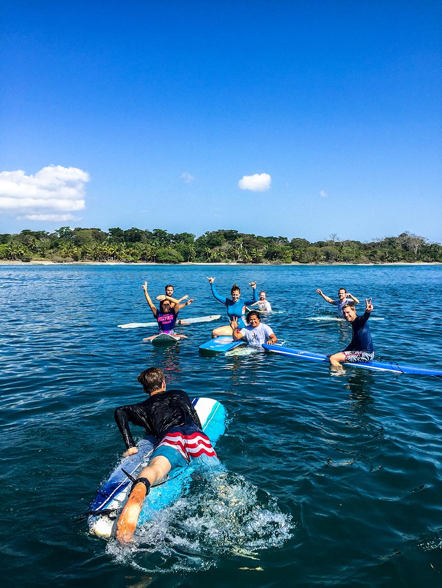 Mokum Surf Club retreat group in Costa Rica
