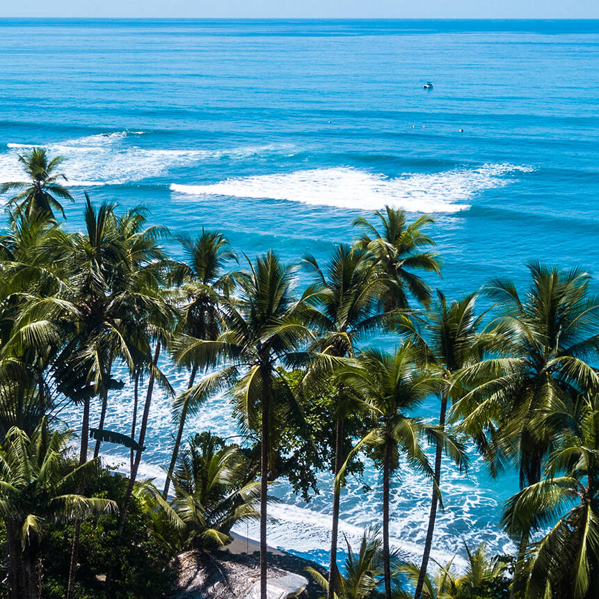 Ocean view at Mokum Surf Club retreat Costa Rica