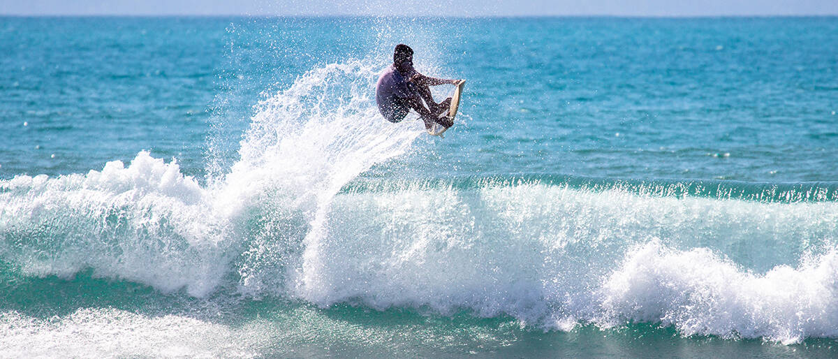 Surfer in Pavones Costa Rica