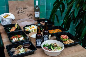 Takeaway food photography