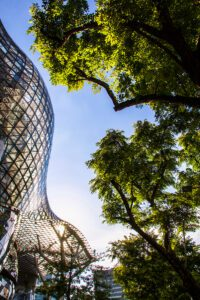 Travel photography of architecture in Singapore