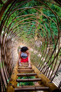 Tree hut at Bambu Indal Bali Indonesia