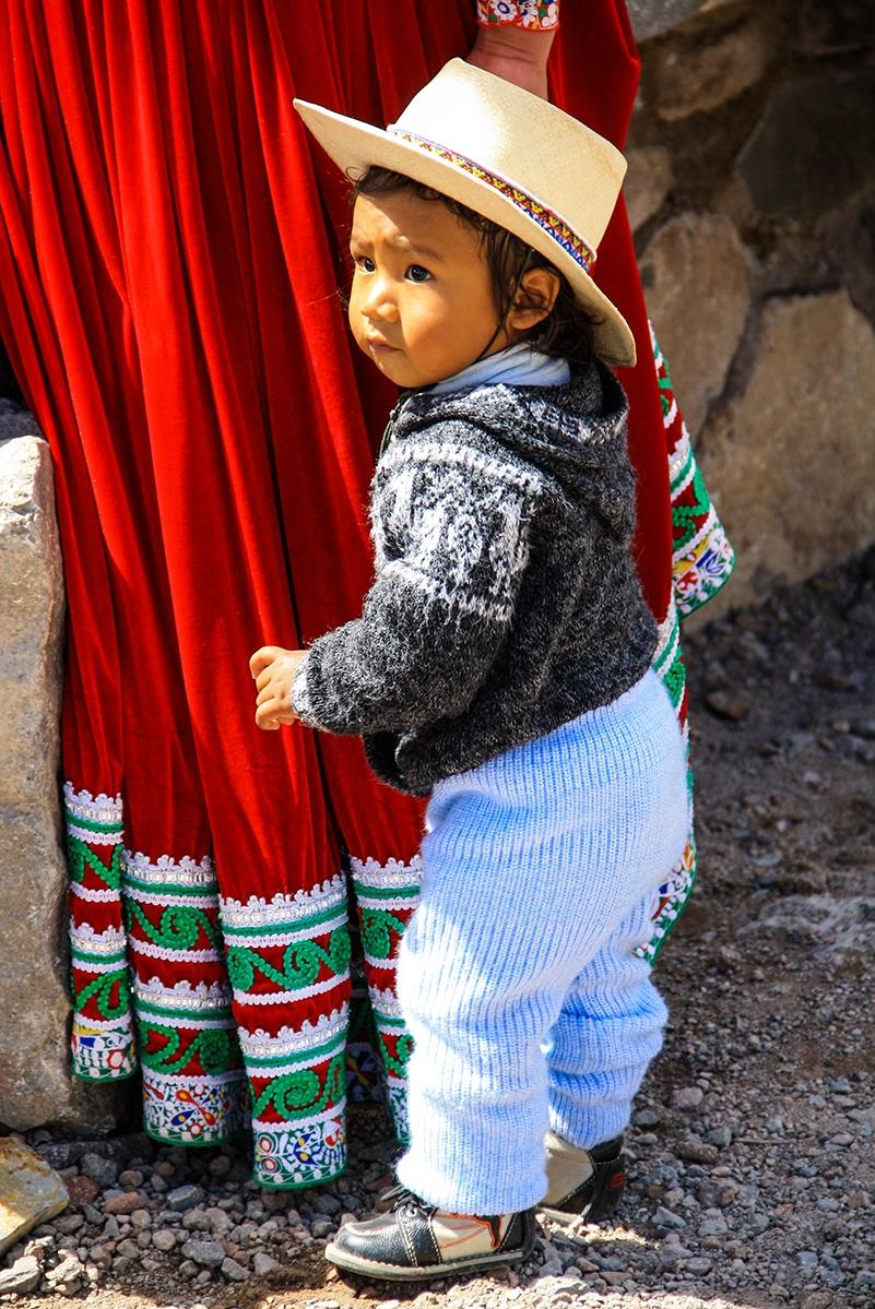 Boy in the colca canyon in Peru