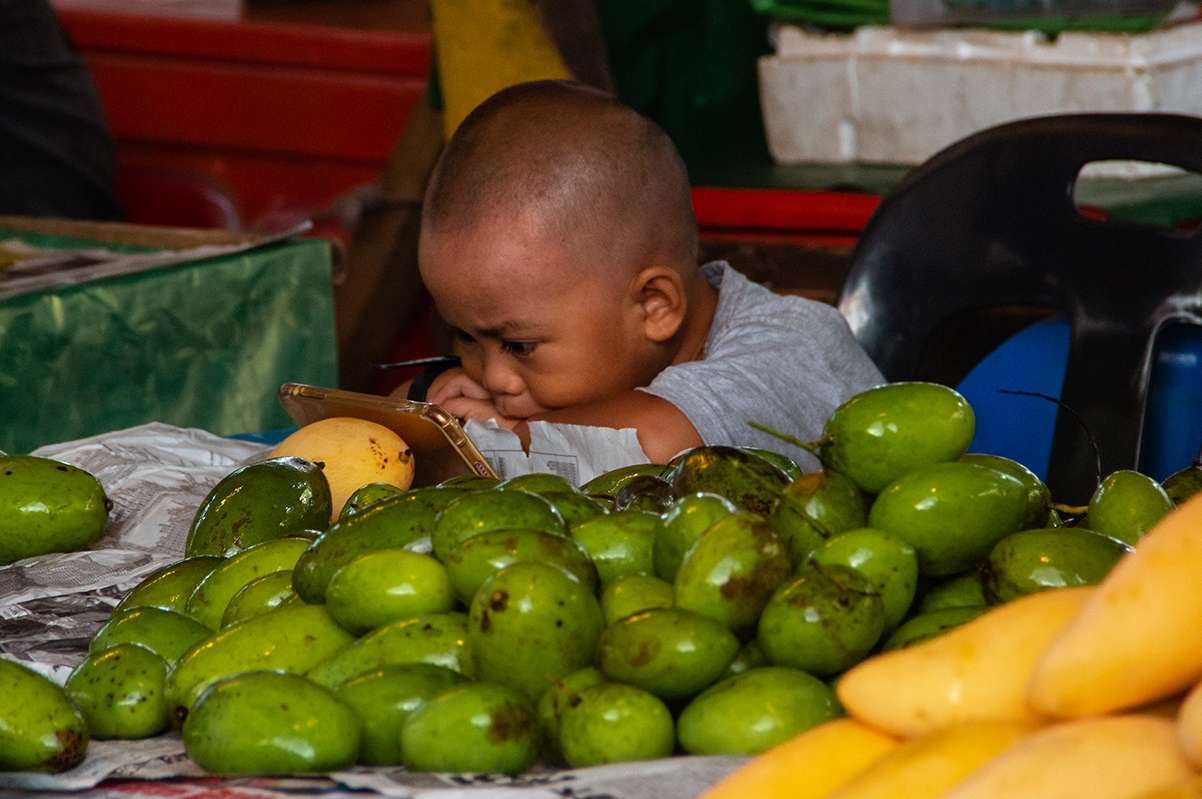 Boy on a market in Borneo