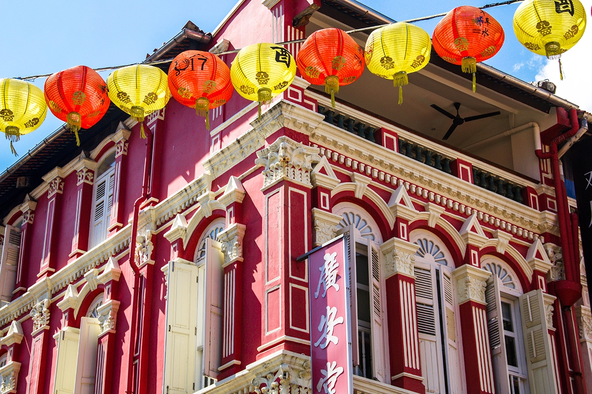 Travel photography in China Town Singapore