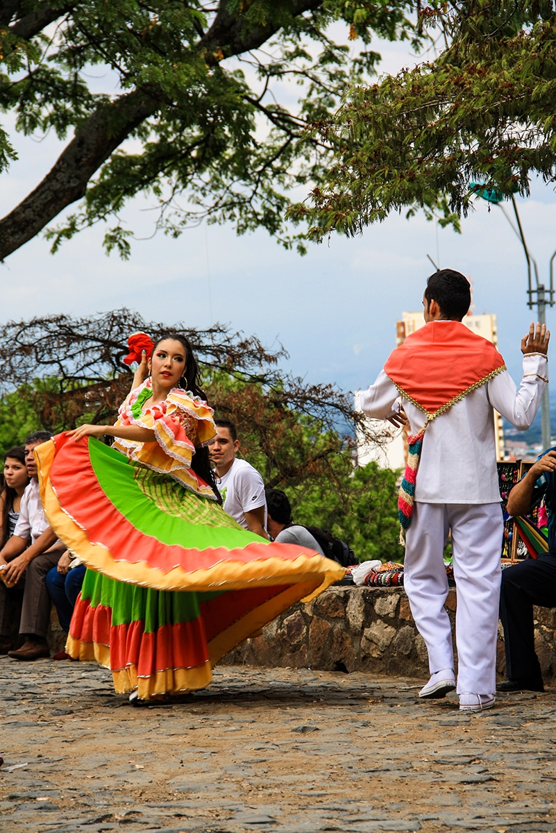 Dancers in the streets of Cali Colombia