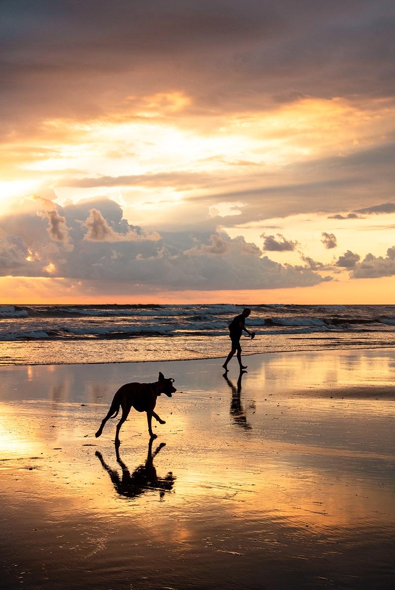 Beach sunset in Costa Rica