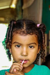 Portrait of a girl in Colombia