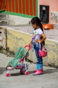Girl on the streets of Salento Colombia