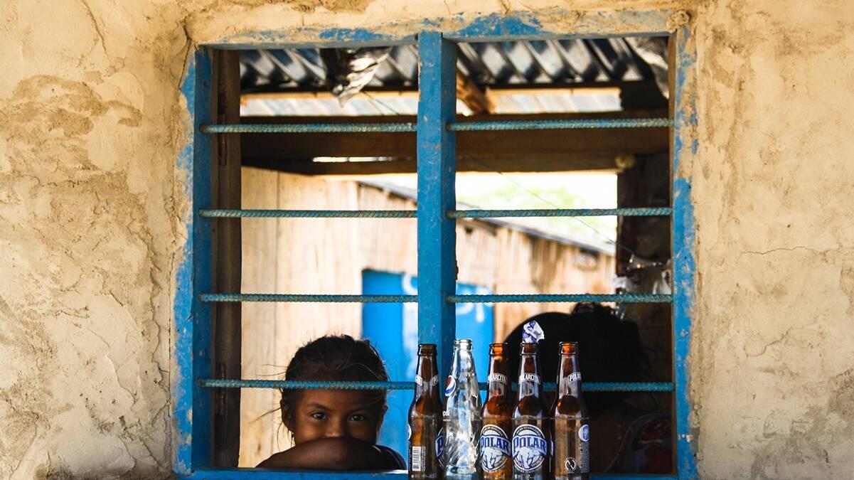 Girl in a shop in La Guajira Colombia