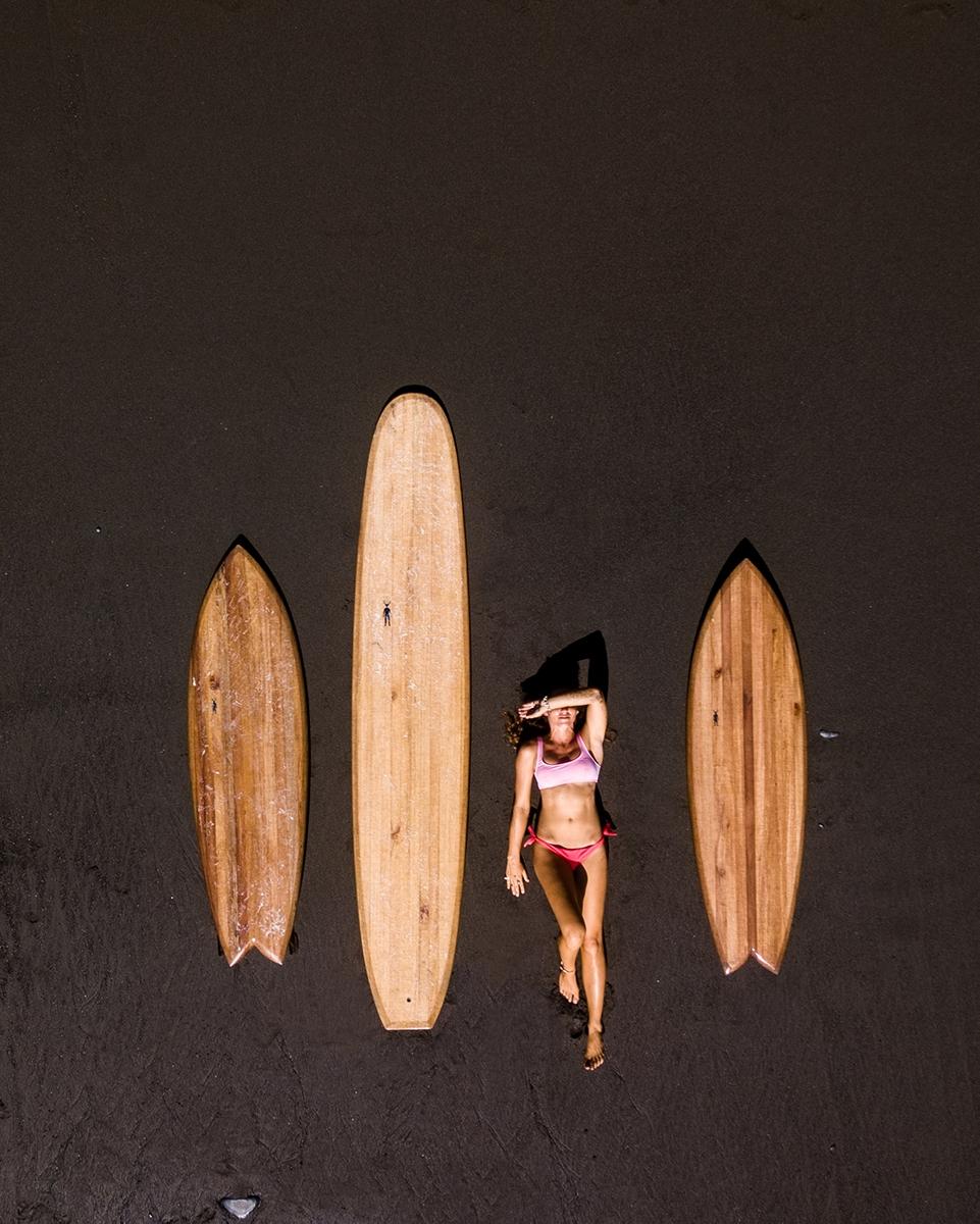 Huchu surfboards drone photography Costa Rica