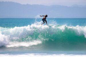 Professional surfer in Pavones Costa Rica