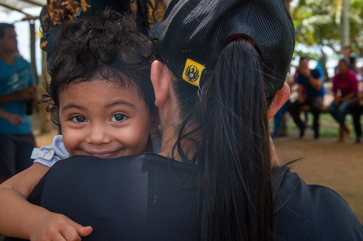 Little girl portrait in Costa Rica