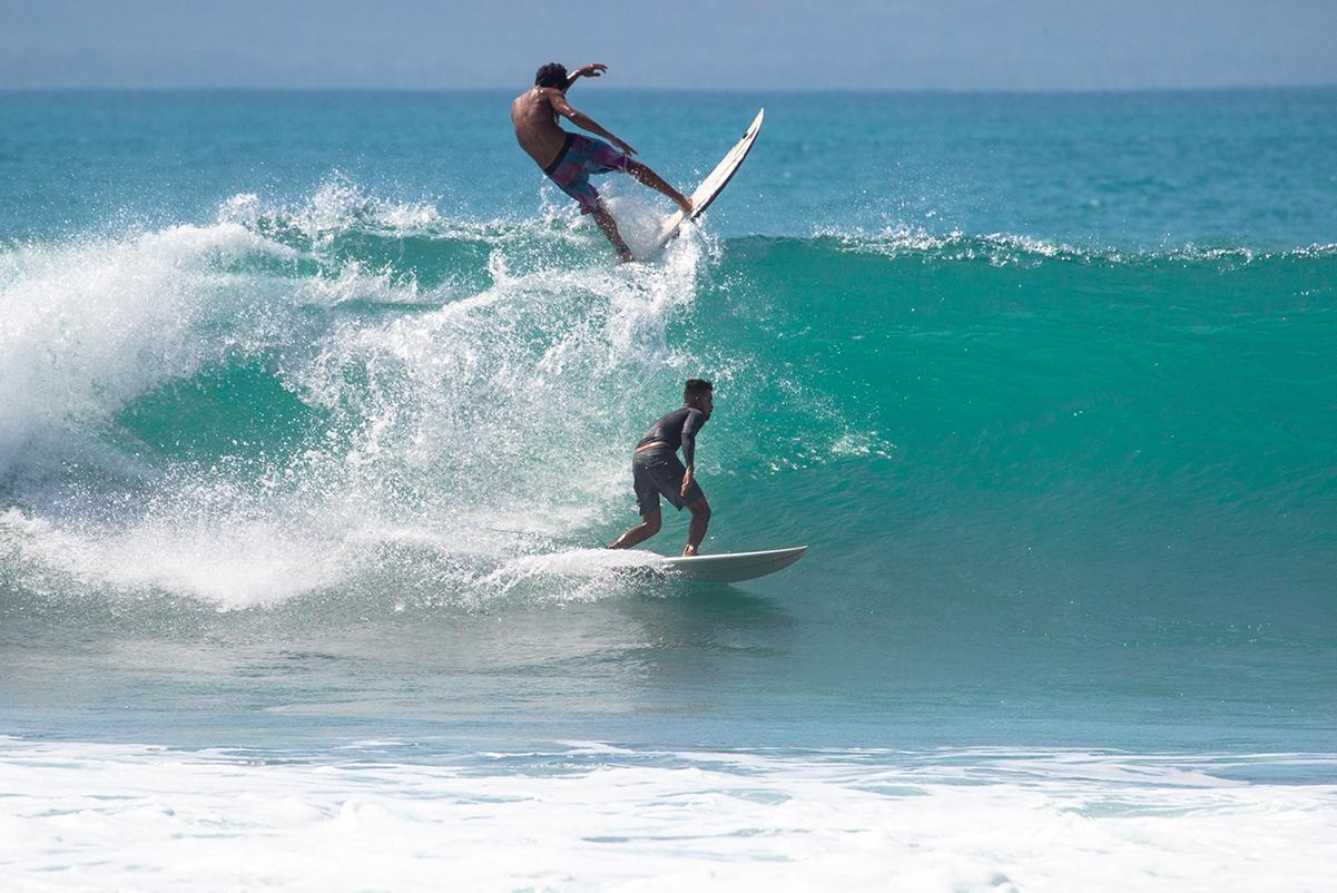 Surfers in Pavones Costa Rica