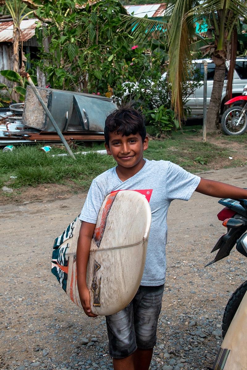 surfer boy portrait in Costa Rica