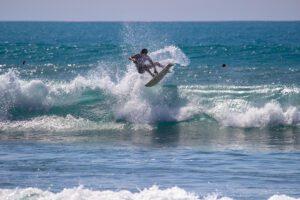 Aerial surfer in Pavones Costa Rica