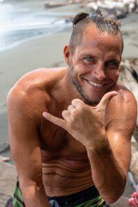 Surfer man portrait
