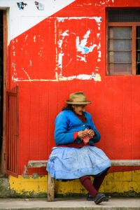 Woman in the streets of Cusco Peru