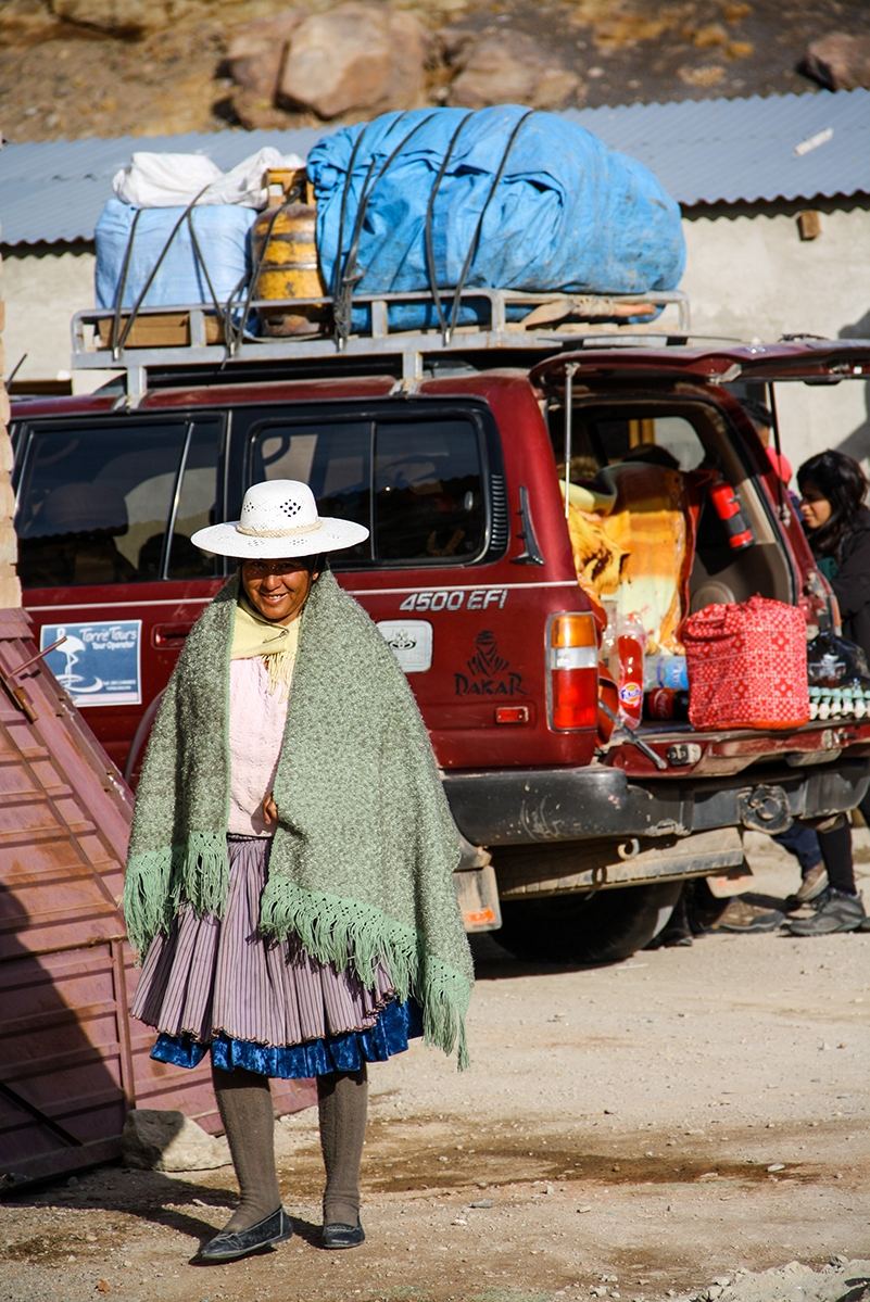 Woman in a village in Bolivia