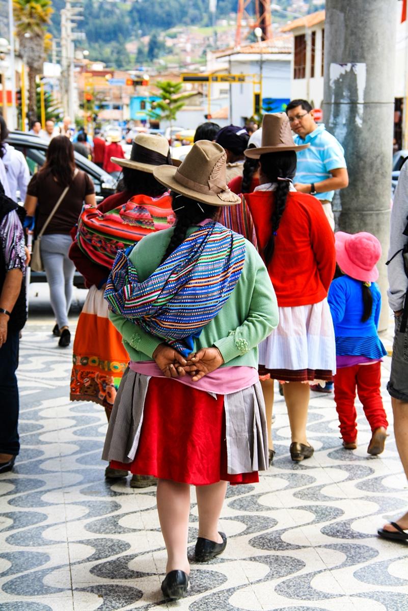 Women on the streets of Huaraz Peru