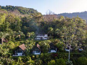 Drone view Oxygen Jungle Villas hotel Costa Rica