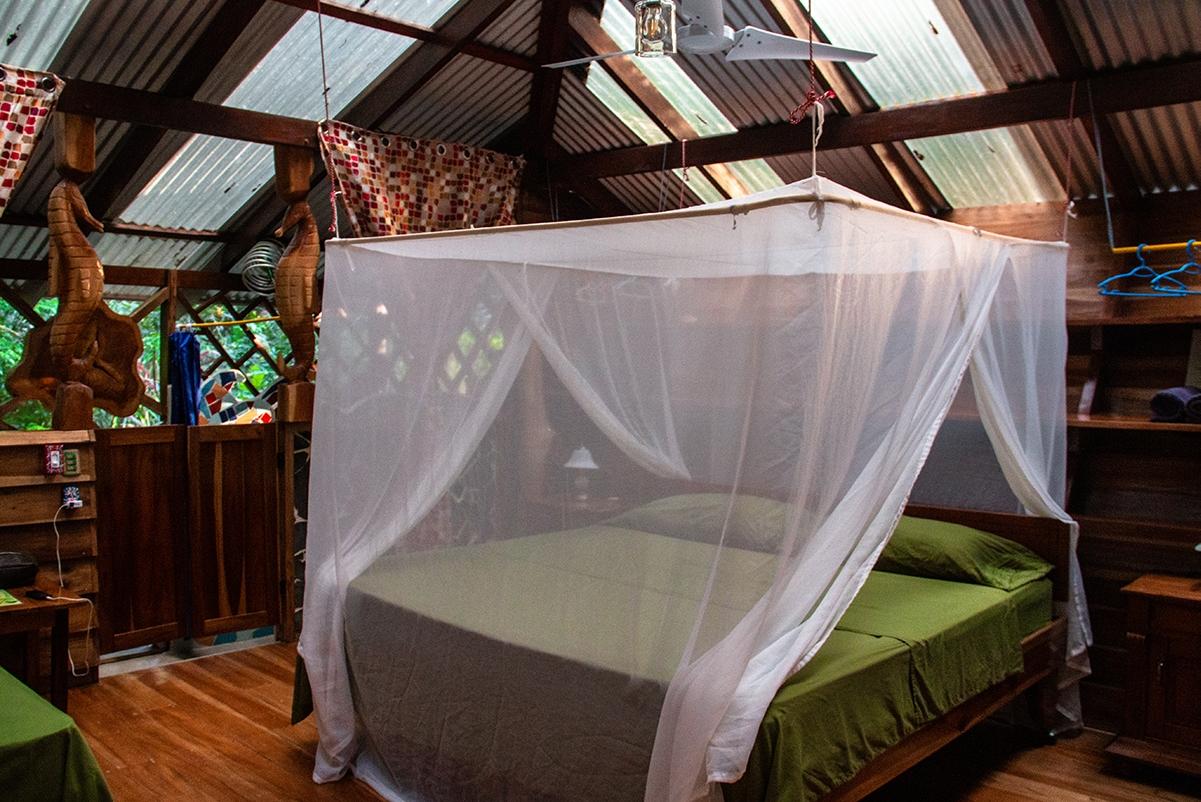 Bedroom at Congo Bongo hotel in Costa Rica