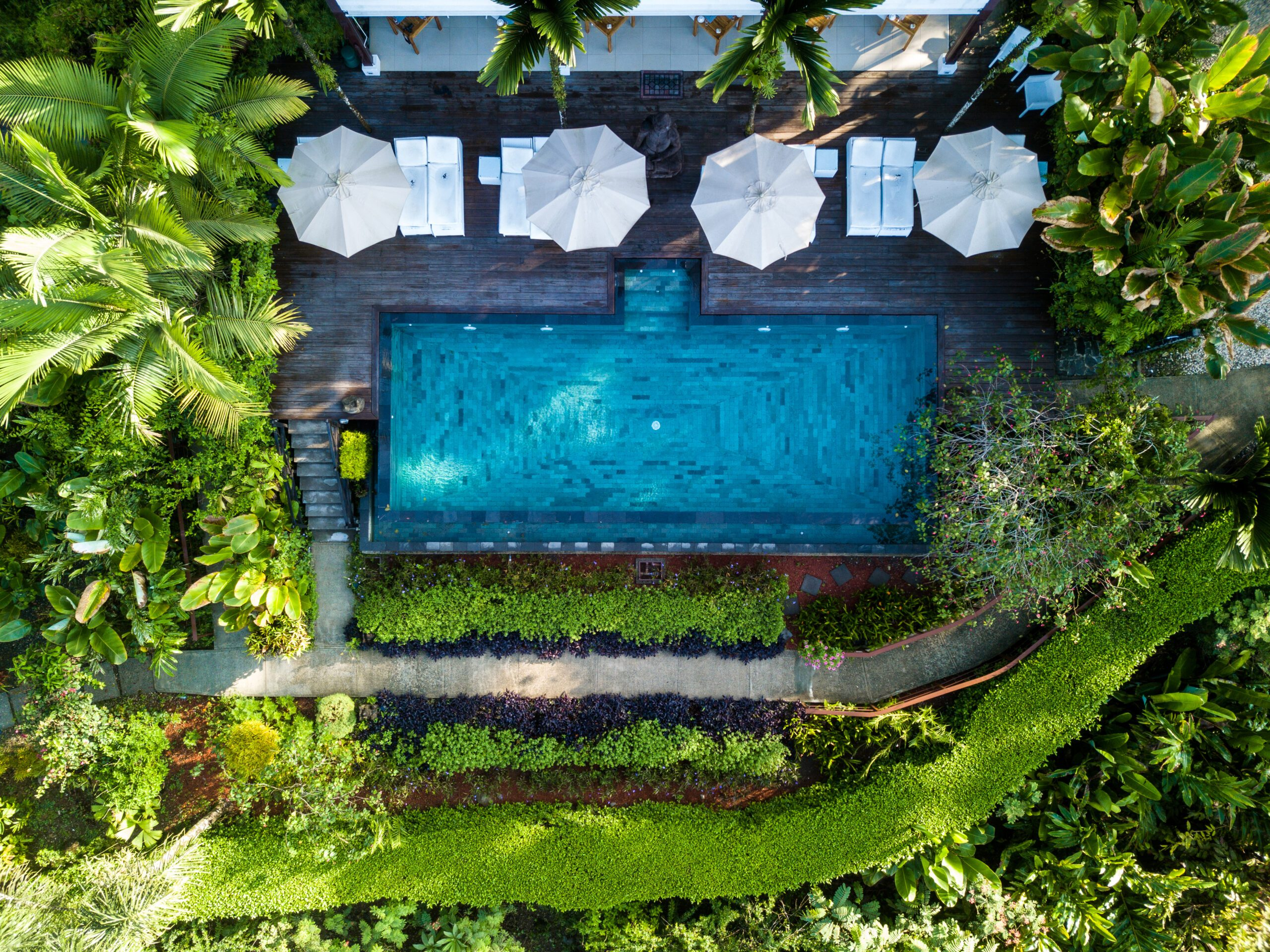 infinity pool at Oxygen Jungle Villas hotel in Costa Rica