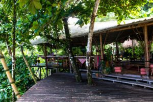 Restaurant at Finca Exotica hotel in Costa Rica