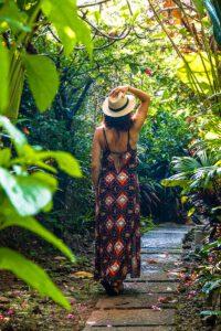 Garden at Oxygen Jungle Villas hotel in Costa Rica