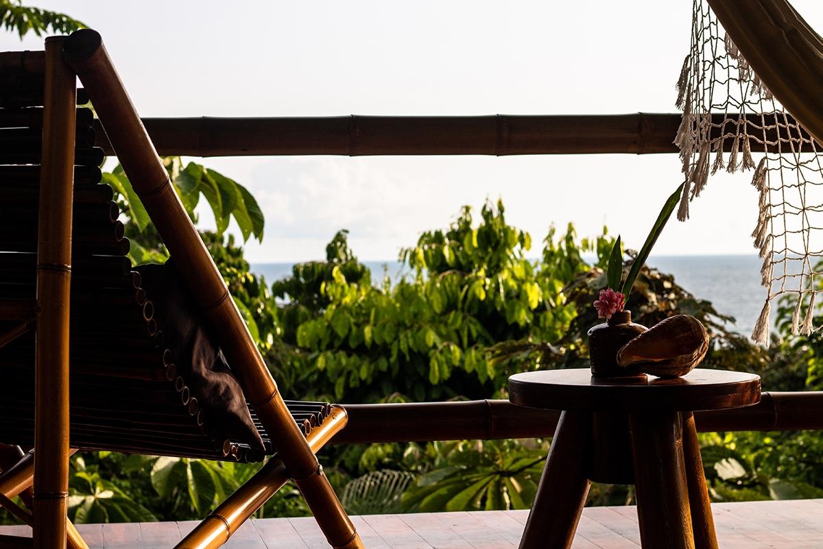 Hotel room view at Sola Vista Eco Lodge Costa Rica