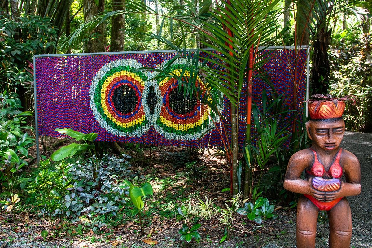 Plastic art at Congo Bongo hotel Costa Rica