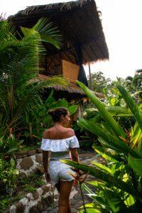 Sola Vista Eco Lodge garden in Punta Banco Costa Rica